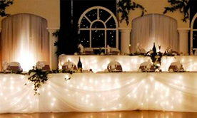 Fairy Light Head Tables