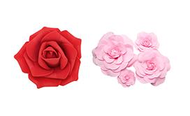 Foam & Paper Flowers
