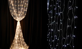 LED Curtains & Chandelier Strands