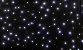 Nova White LED Star Curtains