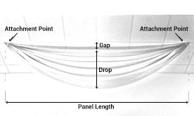 Single Prefabricated Drape Panels