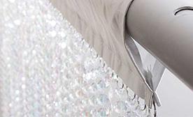 Satin Top Crystal Curtains