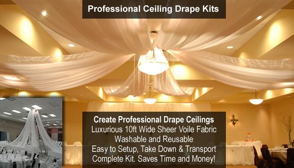 Professional Ceiling Drape Kits