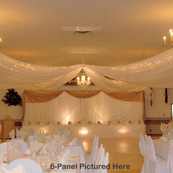 Diy Drapes For Wedding: 4-Panel Sheer Voile 21ft Ceiling Draping Kit (44 Feet Wide