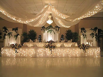 Wedding Ceiling Drapes With Lights Event Decor Direct