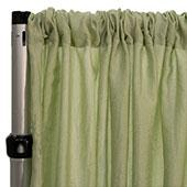 "Extra Wide Crushed Taffeta ""Tergalet"" Drape Panel by Eastern Mills 9ft Wide w/ 4"" Sewn Rod Pocket - Celery"