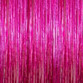 Cerise - Cracked Ice Fringe Curtain - Many Size Options