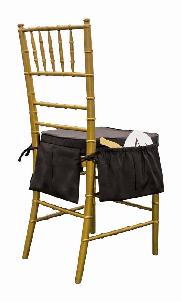 Lot Of 4 Black Kangacushion Chiavari Chair Seat Cushion