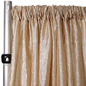 "Extra Wide Crushed Taffeta ""Tergalet"" Drape Panel by Eastern Mills 9ft Wide w/ 4"" Sewn Rod Pocket - Champagne"