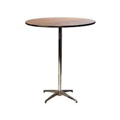 24 Inch Round Pub Tail Table W 30 And 42 Columns