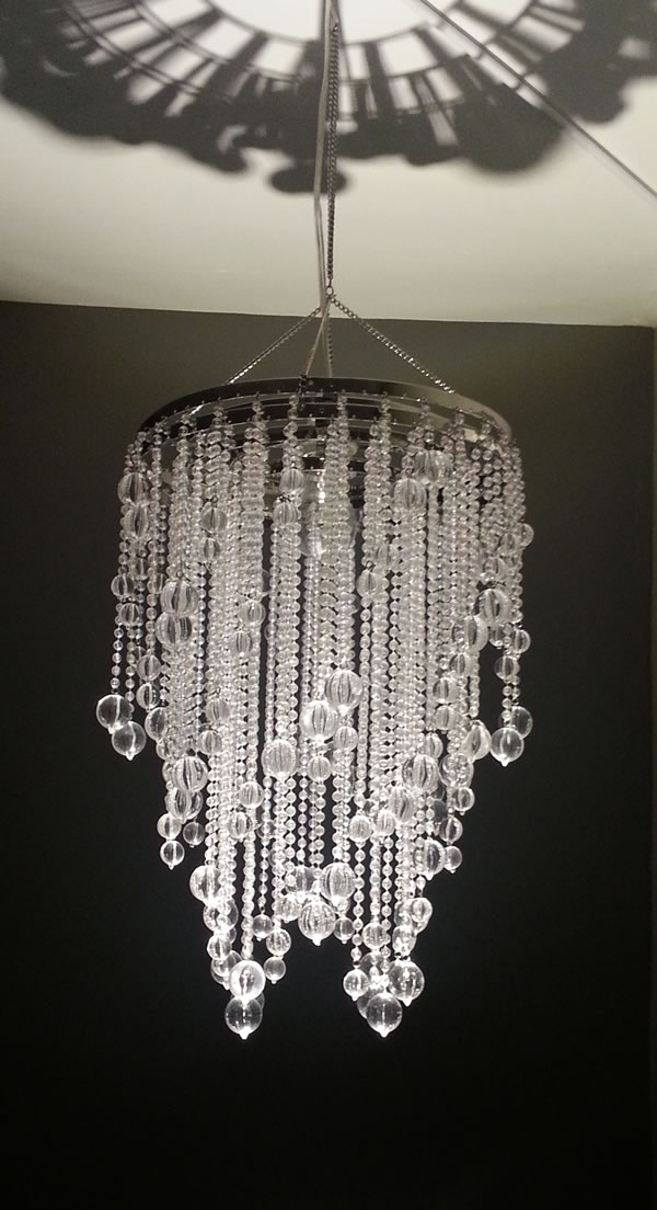 Combo chandelier small crystal acrylic drop chandelier for Decor direct