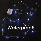 LED Vine Light Strand - Waterproof! Battery Operated. COOL WHITE