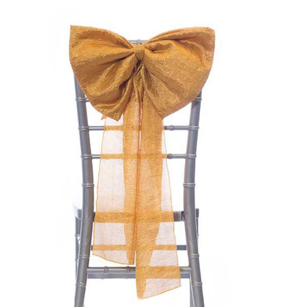 14 Crushed Taffeta Bow Chair Accent Copper