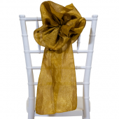 "DecoStar™ 9"" Crushed Taffeta Flower Chair Accent - Copper"