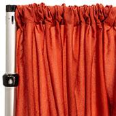 "Extra Wide Crushed Taffeta ""Tergalet"" Drape Panel by Eastern Mills 9ft Wide w/ 4"" Sewn Rod Pocket - Copper"