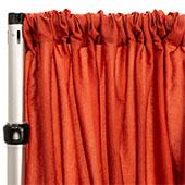 "*FR* Extra Wide Crushed Taffeta ""Tergalet"" Drape Panel by Eastern Mills 9ft Wide w/ 4"" Sewn Rod Pocket - Copper"