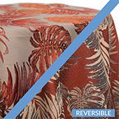 Coral - Tahiti Tablecloths - DOUBLE-SIDED - MANY SIZE OPTIONS