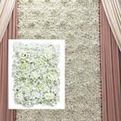 8ft x 8ft Portable Mixed Ivory Floral Backdrop Kit