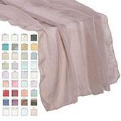 "Crushed Sheer Table Runner - 27"" x 110"" - 37 Color Options!"
