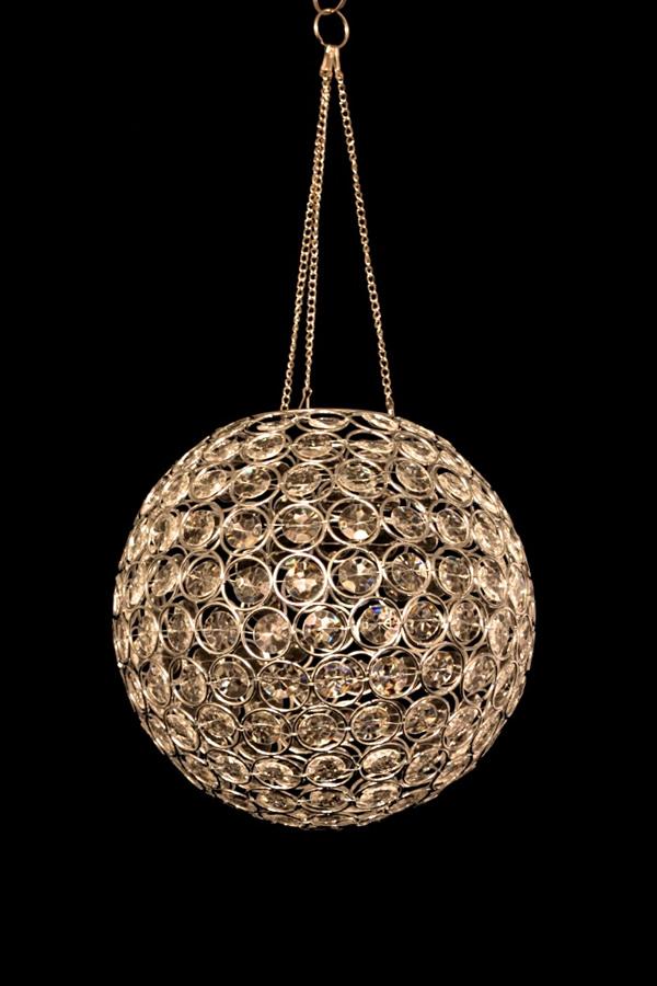 Home Bead & Crystal Chandeliers Acrylic Crystal Hanging Globe Light