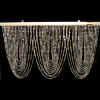Crystal Iridescent Diamond Cut Curtain Header Rods -Swag Pattern
