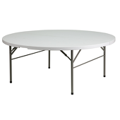 "72"" Round Resin Table - 30"" Tall"