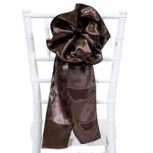"""DecoStar™ 9"""" Satin Flower Chair Accent - Dark Brown"""