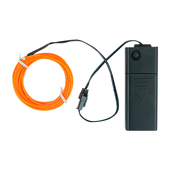 DISCONTINUED ITEM - Battery-Operated Electroluminescent (EL) Wire - 6ft (1.8M) Long - Dark Orange