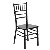 EnvyChair™ Elegant Wood Chiavari Chair - Black