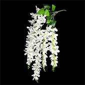 "Decostar™ Artificial Wisteria Spray 27"" - 48 Pieces - White"