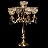 Decostar™ Crystal Candelabra Globe Seville, Five Arm 30
