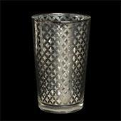 "Decostar™ Lattice Glass Votive Candle Holder4 1/4"" 6pc/box - 48 Pieces - Silver"