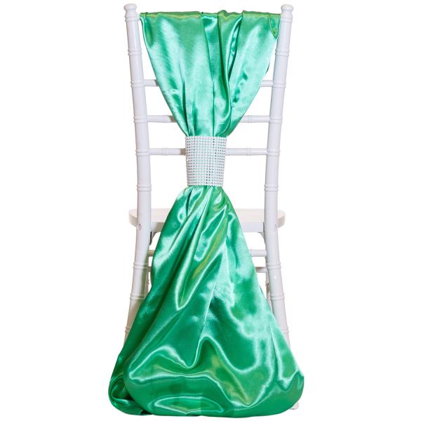 Decostar Satin Single Piece Simple Back Chair Accent