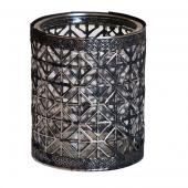DecoStar™ Silver Encased Glass Votive - 4""