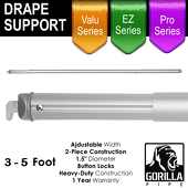 3-5ft Telescoping Drape Support