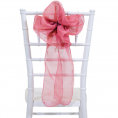 "DecoStar™ 9"" Sheer Flower Chair Accent - Dusty Rose"