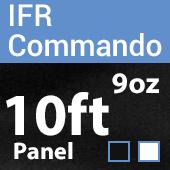"9oz. Fire Retardant Duvetyne/Commando Cloth - Sewn Drape Panel w/ 4"" Rod Pockets - 10ft"