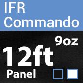 "9oz. Fire Retardant Duvetyne/Commando Cloth - Sewn Drape Panel w/ 4"" Rod Pockets - 12ft"