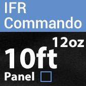 "12oz. Fire Retardant Duvetyne/Commando Cloth - Sewn Drape Panel w/ 4"" Rod Pockets - 10ft in Black"