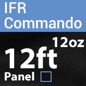12oz. Fire Retardant Duvetyne/Commando Cloth - Sewn Drape Panel w/ 4