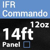 "12oz. Fire Retardant Duvetyne/Commando Cloth - Sewn Drape Panel w/ 4"" Rod Pockets - 14ft in Black"