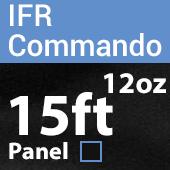 "12oz. Fire Retardant Duvetyne/Commando Cloth - Sewn Drape Panel w/ 4"" Rod Pockets - 15ft in Black"
