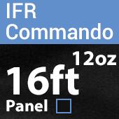 "12oz. Fire Retardant Duvetyne/Commando Cloth - Sewn Drape Panel w/ 4"" Rod Pockets - 16ft in Black"
