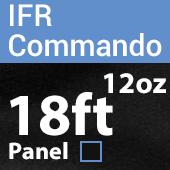 "12oz. Fire Retardant Duvetyne/Commando Cloth - Sewn Drape Panel w/ 4"" Rod Pockets - 18ft in Black"