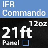 "12oz. Fire Retardant Duvetyne/Commando Cloth - Sewn Drape Panel w/ 4"" Rod Pockets - 21ft in Black"