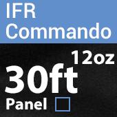 "12oz. Fire Retardant Duvetyne/Commando Cloth - Sewn Drape Panel w/ 4"" Rod Pockets - 30ft in Black"