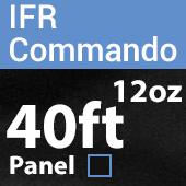 "12oz. Fire Retardant Duvetyne/Commando Cloth - Sewn Drape Panel w/ 4"" Rod Pockets - 40ft in Black"