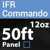 "12oz. Fire Retardant Duvetyne/Commando Cloth - Sewn Drape Panel w/ 4"" Rod Pockets - 50ft in Black"