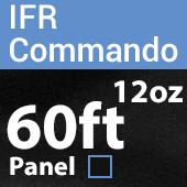 "12oz. Fire Retardant Duvetyne/Commando Cloth - Sewn Drape Panel w/ 4"" Rod Pockets - 60ft in Black"