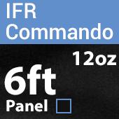 "12oz. Fire Retardant Duvetyne/Commando Cloth - Sewn Drape Panel w/ 4"" Rod Pockets - 6ft in Black"